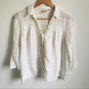 Vanessa Virginia Anthro. button down blouse